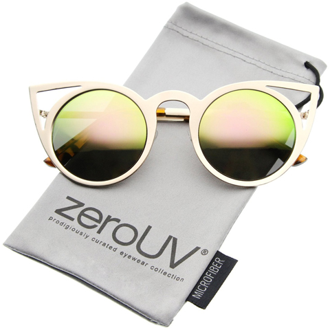 5. zeroUV Women's Fashion Round Metal