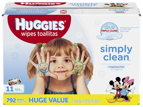 4. Simply Clean Unscented Baby Wipes