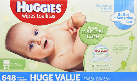 15. Huggies Natural Care Baby Wipes