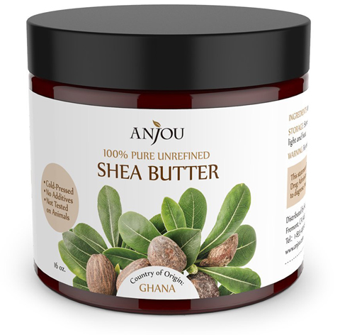 1. Anjou Unrefined Shea Butter