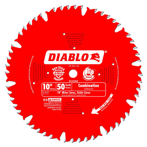 3. Freud D1050X Diablo 50-tooth ATB Combination Saw Blade