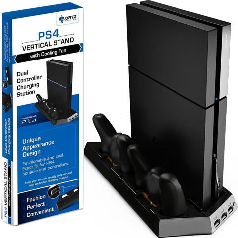8. Ortz PS4 Vertical Stand with Cooling Fan