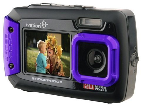 7. Ivation 20MP Underwater Shockproof Camera