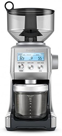 10. Breville BCG820BSSXL The Smart Grinder Pro Coffee Bean Grinder, Brushed Stainless Steel