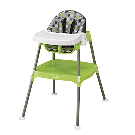 09. Evenflo Convertible High Chair, Dottie Lime