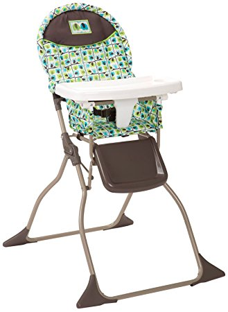 08. Cosco Simple Fold High Chair, Elephant Squares