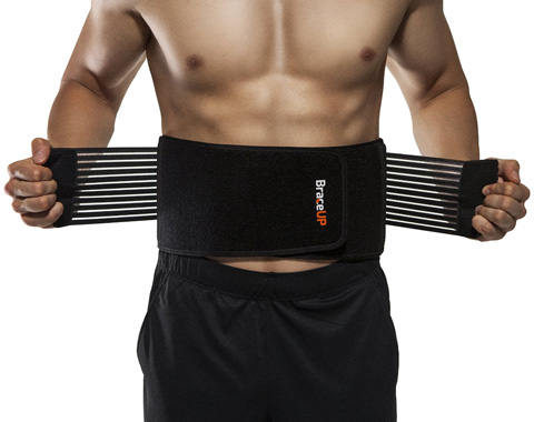 08. BraceUP Stabilizing Lumbar Lower Back Brace and Support Belt