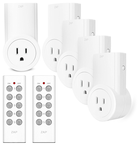 10. Etekcity Wireless Remote Control Electrical Outlet Switch for Household Appliances