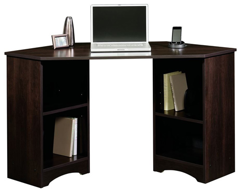 02. Sauder Beginnings Traditional Corner Desk, Multiple Finishes