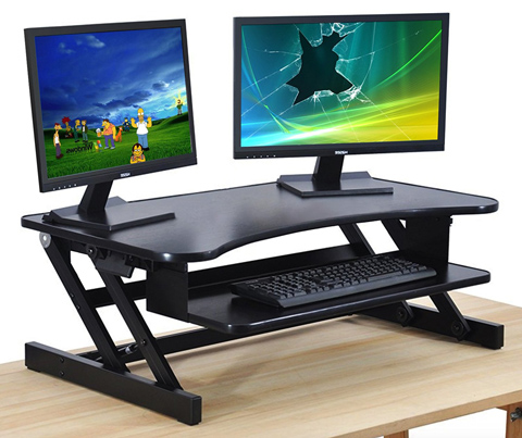 05. Stand up Computer Desk Standing Converter Sit Adjustable Height for Home Office