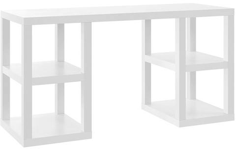 01. Altra Furniture Parsons Deluxe Desk in White