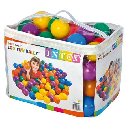 Fun Ballz - 100 Multi-Colored Plastic Balls, for Ages 2+