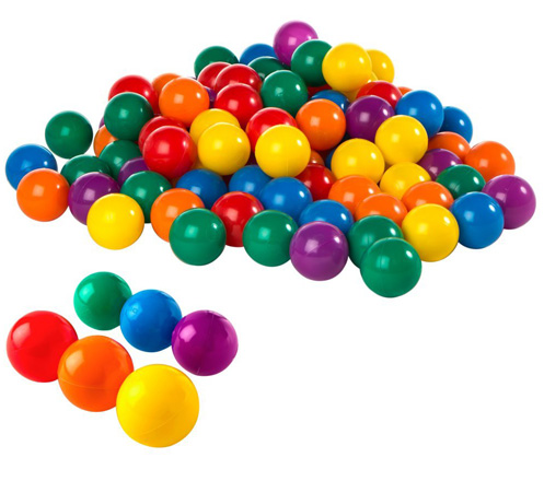 Fun Ballz - 100 Multi-Colored Plastic Balls