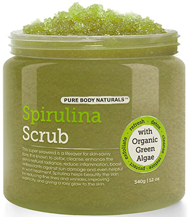 Pure Body Naturals Spirulina and Dead Sea Salt Body Scrub