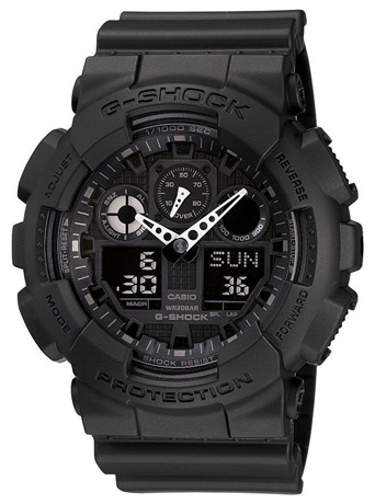 G-SHOCK The GA 100 Military Series Watch in Black for Men