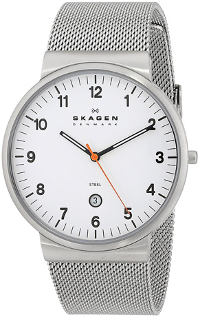 SKAGEN Klassik Mens Three-Hand Date Stainless Steel Watch