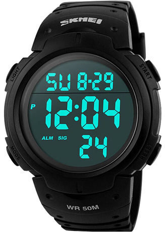 Men's Digital Sports Watch LED Screen Large Face