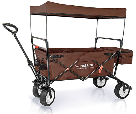 WonderFold Outdoor High-End New 4th Generation Utility Folding Wagon with Canopy