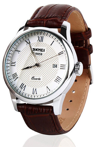 Aposon Mens Quartz Wristwatch with Analog Roman Numeral Display