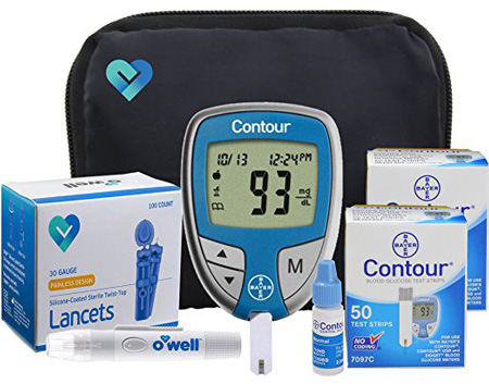 OWell Bayer Contour Diabetes Blood Glucose Testing Kit