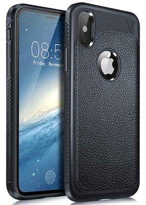 IPhone X case, kuGi iPhone X full range protection Carbon Fiber Dirty Resistant Comfortable Hand feeling