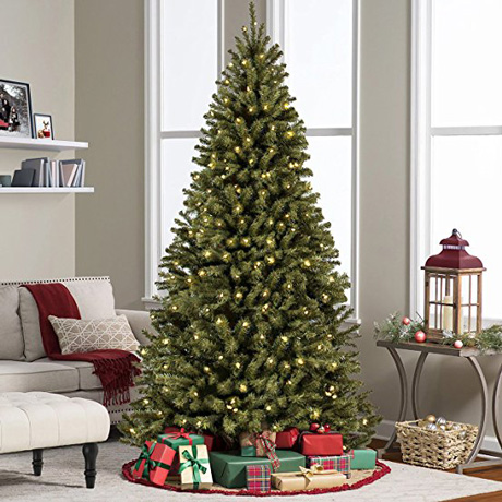 7.5' Ft Prelist Premium Spruce Hinged Artificial Christmas tree