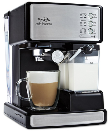 Mr. Coffee Cafe Barista Espresso Maker with Automatic Milk Frother (model BVMC-ECMP1000)