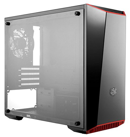 MasterBox Lite 3.1 mATX Case with Dark Mirror Front, Acrylic side panel, Customizable trim colors