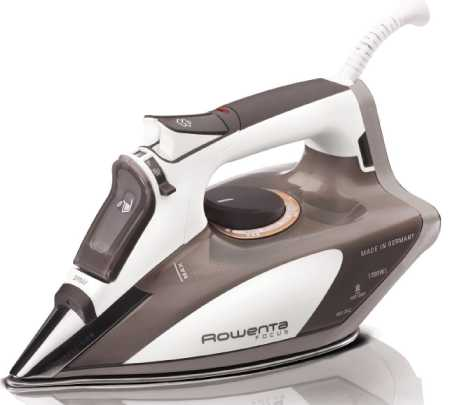 DW5080 Micro Steam Iron Stainless Steel Soleplate with Auto-Off by Rowenta