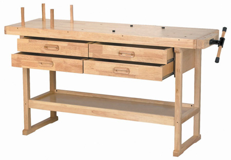 Windsor Design Workbench with 4 Drawers, 60 Hardwood