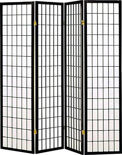 Coaster Home Furnishings Oriental Shoji 4 Panel Screen Room Divider