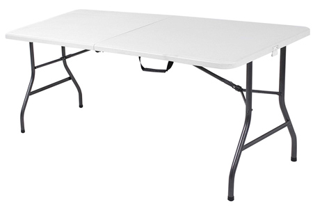 Cosco Deluxe 6 Foot x 30 inch Fold-In-Half-Blow Molded Folding table.
