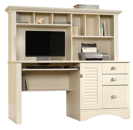 Sauder Harbor View Computer Desk with Hutch.