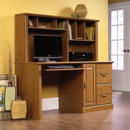 Sauder Orchid Hills Computer Desk with Hutch.