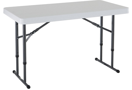 Lifetime 80160 Commercial Height Adjustable Folding Utility Table.