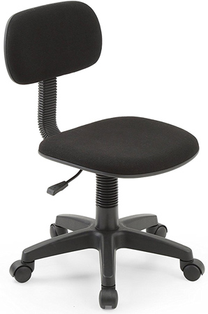 Hode dah Armless Low Back Adjustable Height Swivel Task Chair