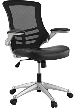 Modway Attainment Mesh Back and Black Vinyl Seat modern office Chair