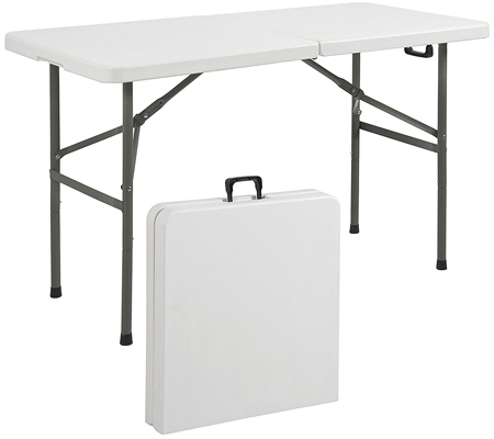 Best choice product Folding Table Portable Plastic Indoor Outdoor Picnic Table.
