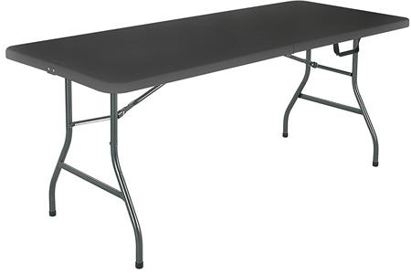 Cosco Deluxe 6 Foot x 30 inch Fold-In- Half Blow Molded Folding Table.