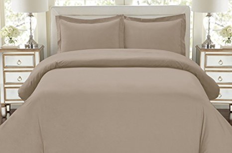 1500 Thread Count Egyptian Quality Duvet Cover set, King Taupe