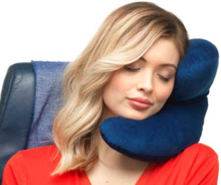 J Pillow Travel Pillow, Head, Chin and Neck Support, British Invention of the Year, Travel and Neck Pillow for Airplanes, Cars and Trains, Machine Washable