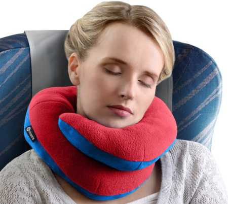 BCOZZY Chin Supporting Travel Pillow - Supports the Head, Neck, and Chin in Maximum Comfort in Any Sitting Position. A Patented Product. Adult Size