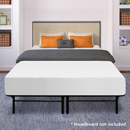 Best Price Mattress 12 Inch Memory Foam Mattress and 14 Inches Premium Steel Bed Frame.