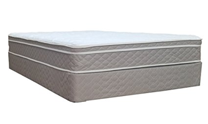 Spinal Solution 9 Inches Pillow Top Fully Assembled Orthopedic Mattress and Box Spring.