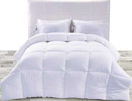 Down Alternative Comforter (White, Queen) - All Season Comforter - Plush Siliconized Fiberfill Duvet Insert - Box Stitched- by Utopia Bedding