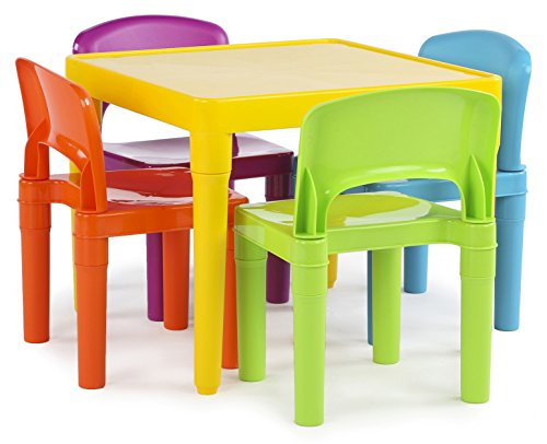 Tot Tutors Kids Plastic Table and 4 Chairs.