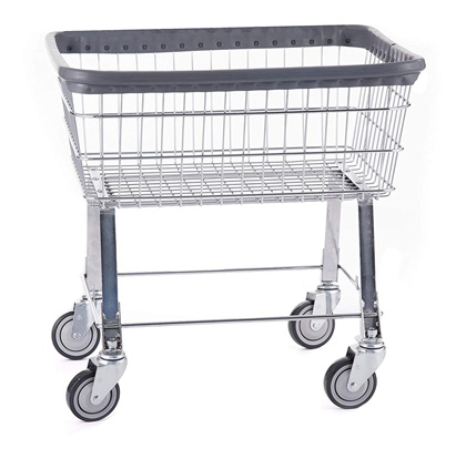 Wire R&B Rolling Laundry Cart