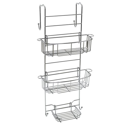 Zenna Home E7803STBB, Over-the-Shower Door Caddy, Stainless Steel
