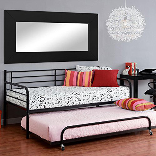 DHP Separate Trundle Metal Daybed Frame