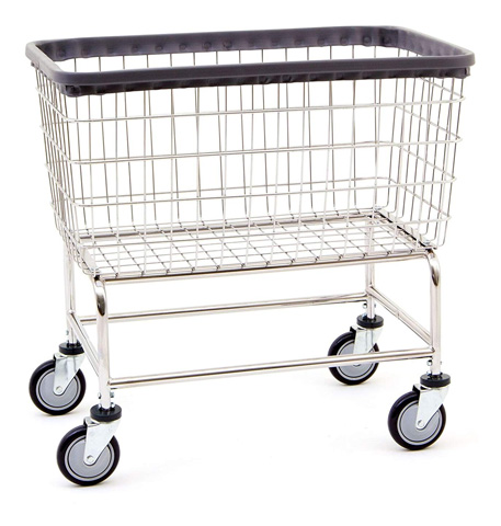 R&B Wire 200F Chrome Wire Laundry Cart